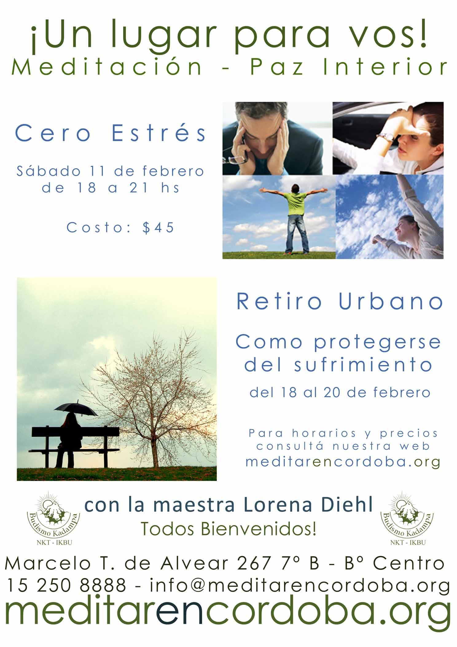 Cero estres meditacion paz interior retiro urbano for Meditacion paz interior